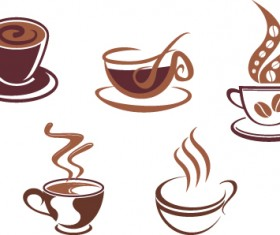Vector Coffee icons design elements 04