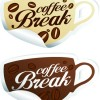 Vector Coffee break stickers elements 03