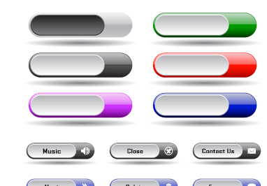 Collection of Web button vector 02 - Free Vector free download