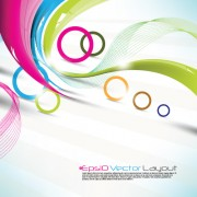 Link toColored ribbon with circle background vector
