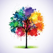 Link toCreative colorful tree design elements vector 01
