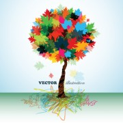 Link toCreative colorful tree design elements vector 02