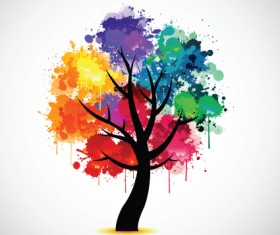 Creative Colorful tree design elements vector 05