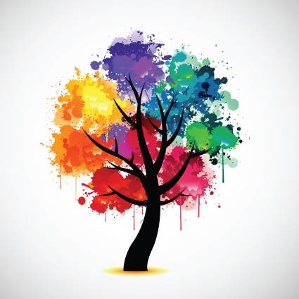 creative colorful tree design elements vector 05 free download