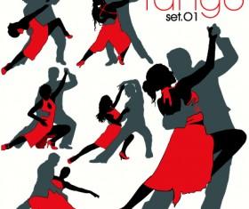 Elements of Dancing vector graphics 01