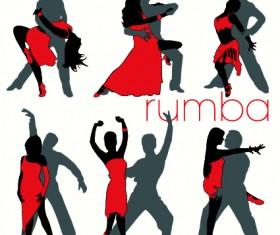 Elements of Dancing vector graphics 03