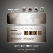 Link toDark style website template vector