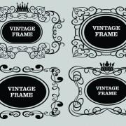 Link toVector decorative vintage frames set 01