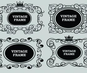 Vector Decorative Vintage Frames set 01