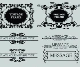 Vector Decorative Vintage Frames set 02