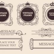 Link toVector decorative vintage frames set 03