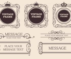 Vector Decorative Vintage Frames set 03