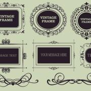 Link toVector decorative vintage frames set 05