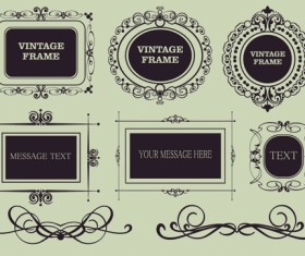 Vector Decorative Vintage Frames set 05