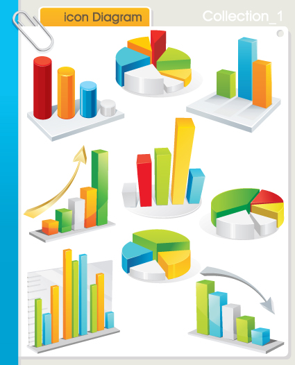 Set of Diagram Icons vector 01 - Business Icons, Vector Icons free ...