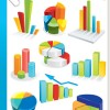 Set of Diagram Icons vector 03