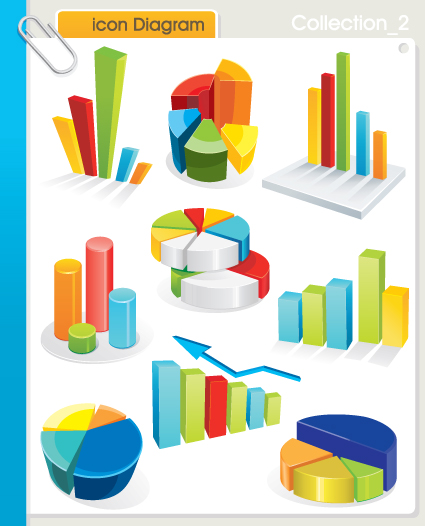 Set of diagram icons vector 03 free download set of diagram icons vector 03 ccuart Images