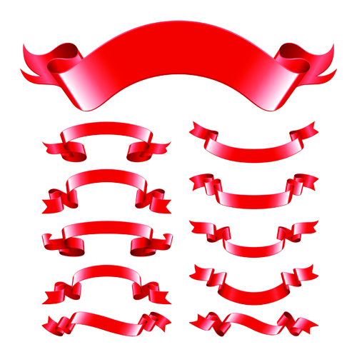 Red Ribbon Vector Free Download Red Ribbons Design Vector