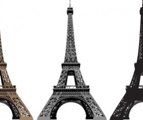 Eiffel Tower design elements vector