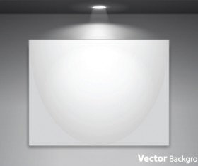 Set of Empty gallery wall with lights background 01
