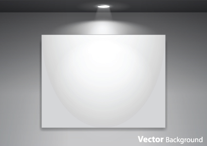Set Of Empty Gallery Wall With Lights Background 01 Over