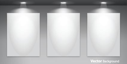 Set of empty gallery wall with lights background 02 vector set of empty gallery wall with lights background 02 toneelgroepblik Gallery