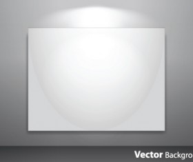 Set of Empty gallery wall with lights background 05