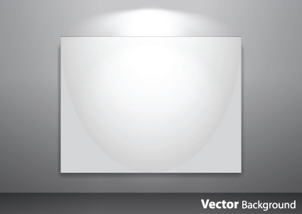 Set Of Empty Gallery Wall With Lights Background 05 Over