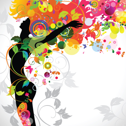 Fall floral girl design vector graphic 02 - Vector People free ...