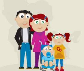 Family Member design elements vector 01