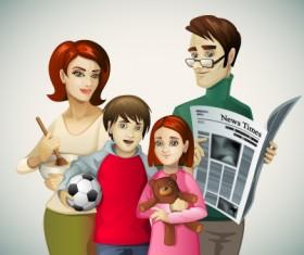 Family Member design elements vector 02