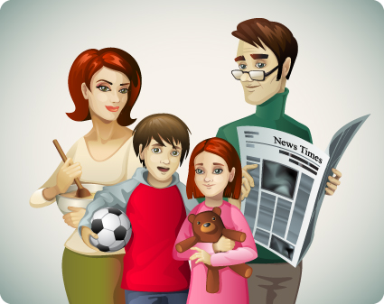 Family Member design elements vector 02