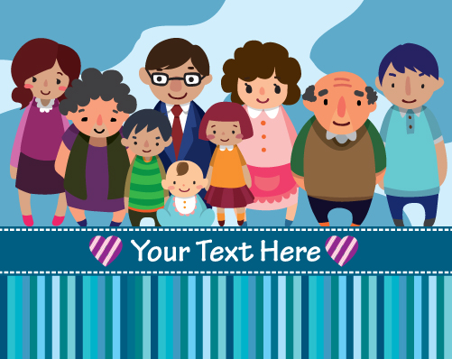 Family Member design elements vector 03