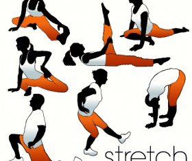 Fitness exercises design elements set 02