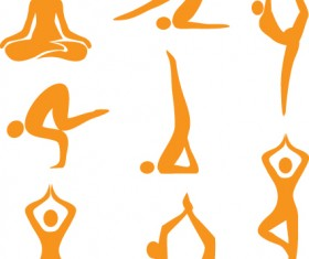 Vector Fitness with meditation logo set 03