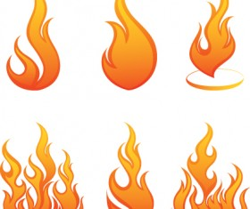 Different Flames icons design vector 02