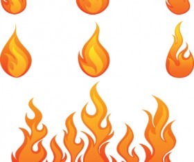 Different Flames icons design vector 03