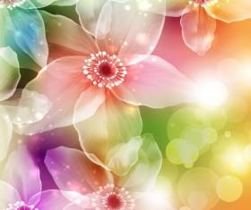 Fresh Flowers design vector art 02