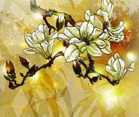 Fresh Flowers design vector art 03