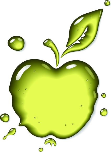 Transparent Fruit glass design vector 04