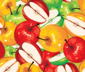 Fruits and vegetables patterns vector graphics 03