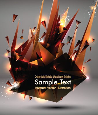 Abstract Geometric Vector Background Art 02