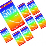Link toCreative gift cards discount design vector 02