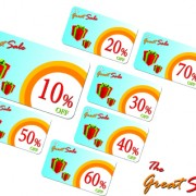 Link toCreative gift cards discount design vector 05