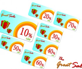 Creative Gift cards discount design vector 05
