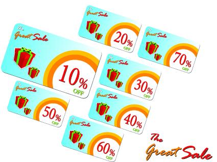 Creative Gift cards discount design vector 05