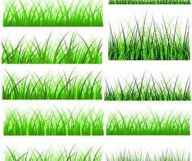 Vector Green Grass Elements set 05