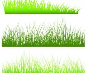 Vector Green Grass Elements set 07