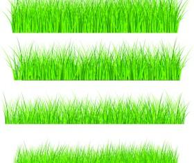 Vector Green Grass Elements set 08