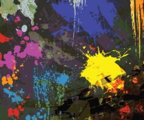 Object Grunge vector backgrounds set 04